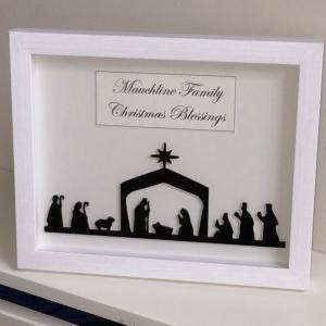Christmas Nativity Silhouette Frame