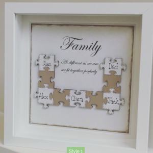 Family Puzzle Art Frame