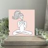 Wild Watermelon Greeting Card Yoga Lady