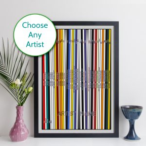 elevencorners Custom Discography Print