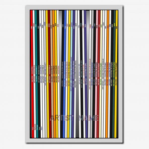 elevencorners any artist discography print
