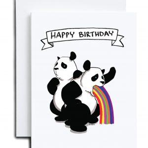 Birthday Card – Party Pandas