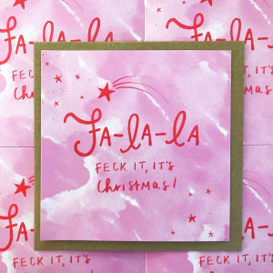 Fa La La Feck It! - 5 pack Christmas Cards