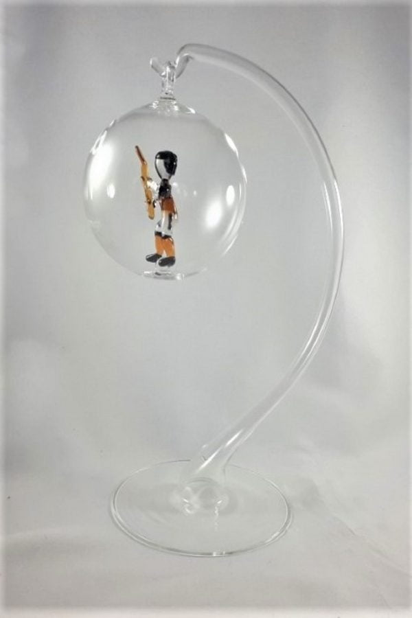 GAA Tipperary Christmas Tree Glass Decoration - glass stand 1