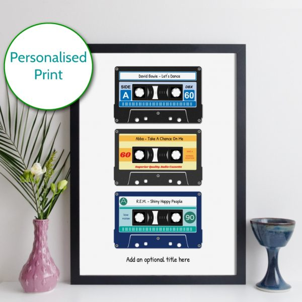 Personalised Three Cassette Tapes Print