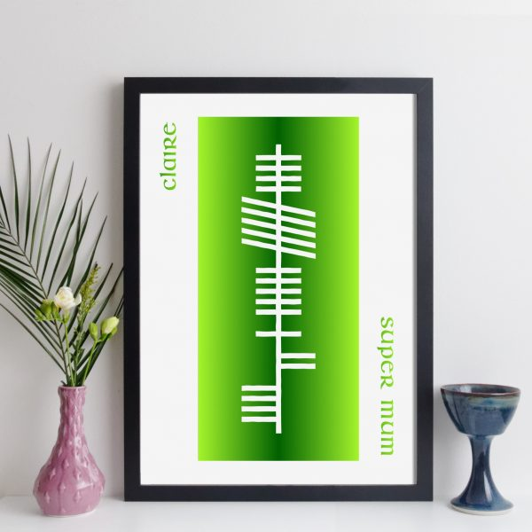 elevencorners personalised ogham name print