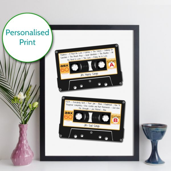 Personalised Cassette Mixtape Print
